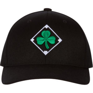Irish Shamrock Diamond Black Baseball Cap