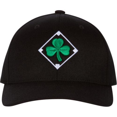 Irish Shamrock Diamond Black Baseball Cap