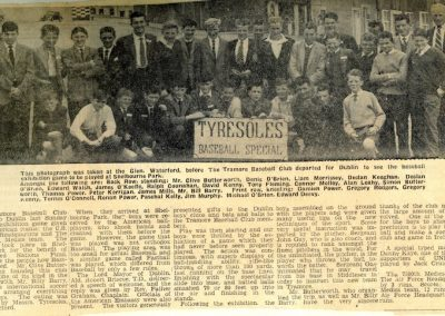 Members of the Tramore Baseball Club in County Waterford, Ireland