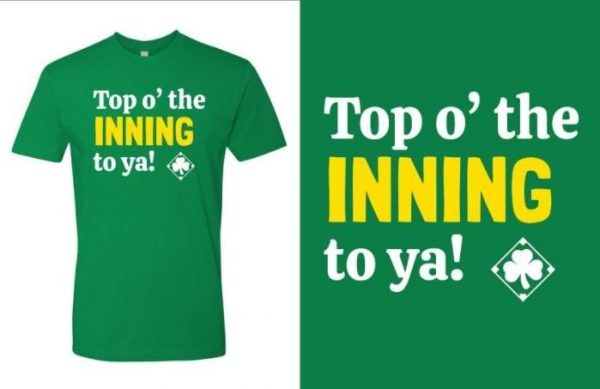 Top o the inning to ya green T-shirt