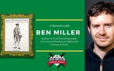"""Watch: A Discussion with Ben Miller, Author of """"Irish Swordsmanship: Fencing and Dueling in Eighteenth Century Ireland."""""""