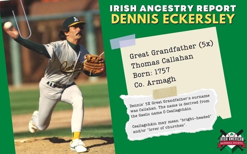 Irish Ancestry Report: Dennis Eckersley