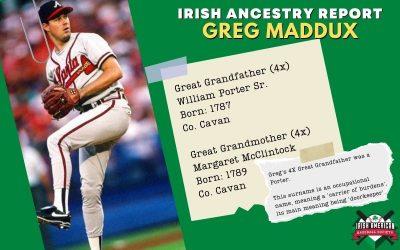 Irish Ancestry Report: Greg Maddux